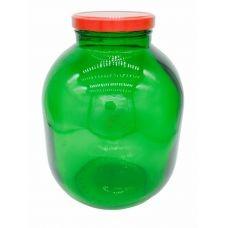 Стеклобанка ТО110 зелёная 7.5 литра с крышкой. Стеклянная банка твист офф для консервирования 7500 мл