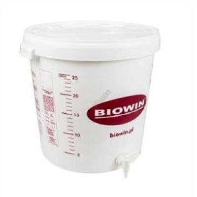 Емкость для брожения 30л с крышкой и краном (ферментер)