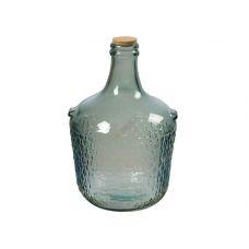 """Бутыль """"COLONIAL"""" с корковой пробкой 12л. Стеклянная бутылка для вина 12000мл"""