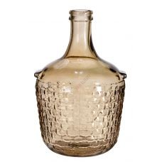 "Бутыль ""COLONIAL янтарный"" с корковой пробкой 12л. Стеклянная бутылка для вина 12000мл"