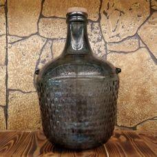 """Бутыль """"COLONIAL синяя"""" с корковой пробкой 12л. Стеклянная бутылка для вина 12000мл"""