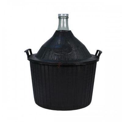 Бутыль для вина 34 литра в пластмассовой корзине