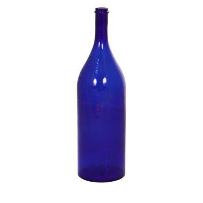 Бутыль Русская четверть синяя 3.075л. Стеклянная бутылка для вина 3075мл