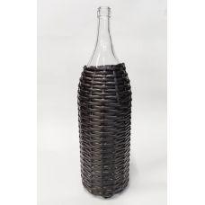 Бутыль Русская четверть в оплётке из искусственного ротанга 3.075л. Стеклянная бутылка для вина 3075мл