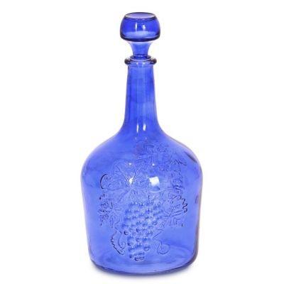 "Бутыль ""Фуфырь синий"" 3л. Стеклянная бутылка для вина 3000мл"