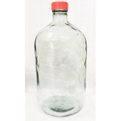 """Бутыль """"Казак прозрачная"""" 14л. Стеклянная бутылка для вина 14000мл"""