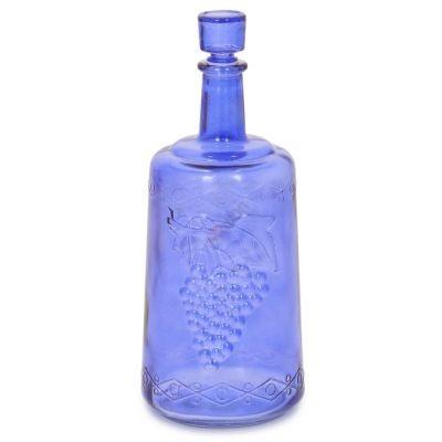 "Бутыль ""Ностальгия синяя"" 3л. Стеклянная бутылка для вина 3000мл"