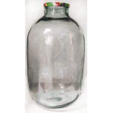 Бутыль ТО100 15л прозрачная. Стеклянная банка для вина 15000мл