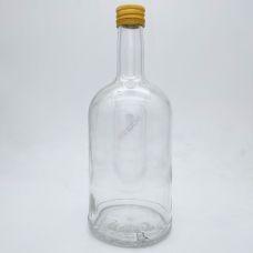 Бутылка винтовая Абсолют 0.7 литр с крышкой. Стеклянная бутыль с резьбой для хранения крепких спиртных напитков 700 мл