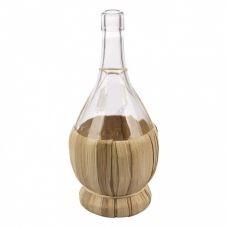 Бутылка Fiasco 1 литр, в оплетке. Стеклянная бутылка для вина 1000 мл
