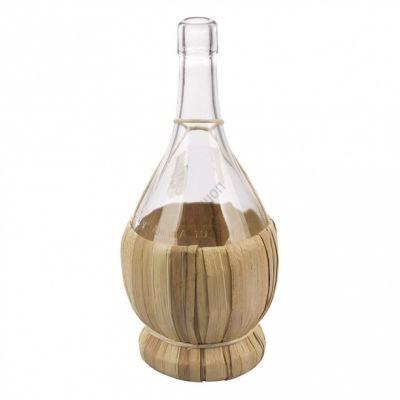 Бутылка Fiasco 2 литр, в оплетке. Стеклянная бутылка для вина 2000 мл