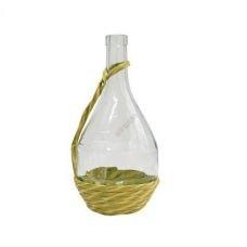 Бутылка Fiasco с ручкой 1 литр, в оплетке. Стеклянная бутылка для вина 1000 мл