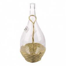 Бутылка Fiasco 2 литр, в оплетке с ручкой. Стеклянная бутылка для вина 2000 мл