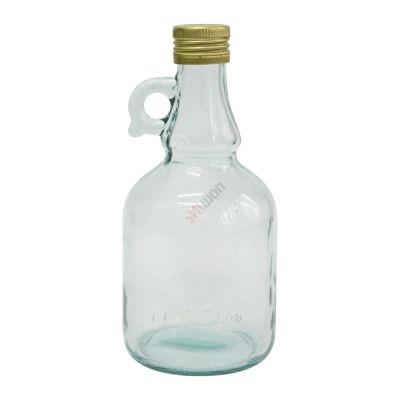 Бутылка Gallone 1 литр, с пробкой. Стеклянная бутылка для вина с ручкой 1000 мл