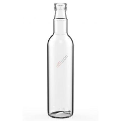 Бутылка Гуала 0.5л. Стеклянная бутыль для хранения крепких спиртных напитков 500мл
