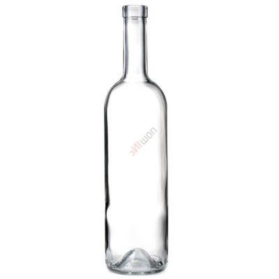 Бутылка винная БОРДО-3 прозрачная 0.75 литра. Стеклянная бутылка для вина 750 мл