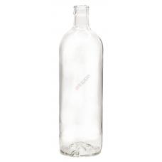 Бутылка Кристалл Гуала 1л. Стеклянная бутыль для хранения крепких спиртных напитков 1000мл