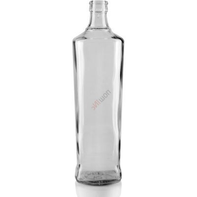 Бутылка Гуала Туркмения 1л. Стеклянная бутыль для хранения крепких спиртных напитков 1000мл