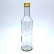 Бутылка винтовая 0.25 литра Чекушка прозрачная. Стеклянная бутылка для вина 250 мл