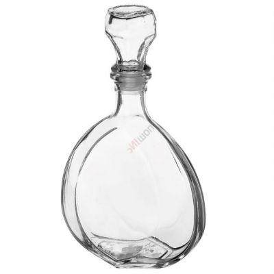 Графин Ставрополь 0.5л. Стеклянная бутылка штоф для вина бутыль 500мл