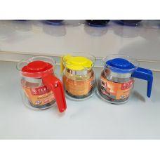 Термостойкий стеклянный чайник Termisil 0.35 литка простой EWA