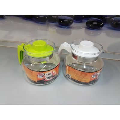 Термостойкий стеклянный чайник Termisil 1 литр простой EWA