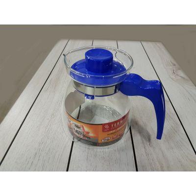 Термостойкий стеклянный чайник Termisil 1.25 литра конус EWA
