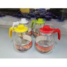 Термостойкий стеклянный чайник Termisil 2.10 литра конус EWA