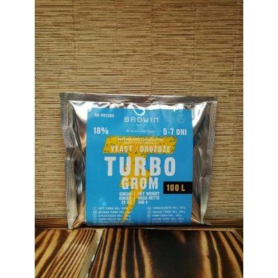 Дрожжи спиртовые TURBO GROM 72h 340 г