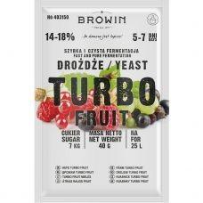 Дрожжи спиртовые TurboFruit 5-7 дней, 40 г. На 25л красного вина
