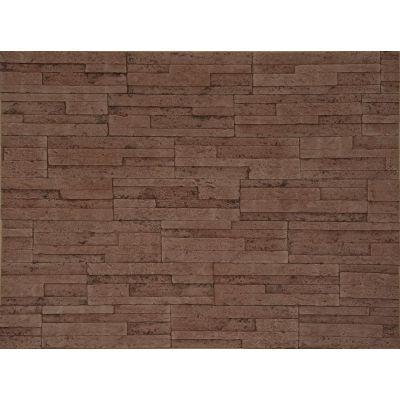 Гибкая плитка Пласт 014 Касавага. Экобрик декоративный гибкий камень Casavaga