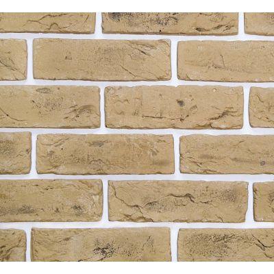 Гипсовая плитка Кирпич ручной формовки 407 Касавага. Декоративный гипсо-цементный камень Casavaga