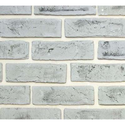Гипсовая плитка Кирпич ручной формовки 421 Касавага. Декоративный гипсо-цементный камень Casavaga
