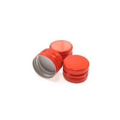 Крышка алюминиевая под винтовую резьбу красная 28x18мм