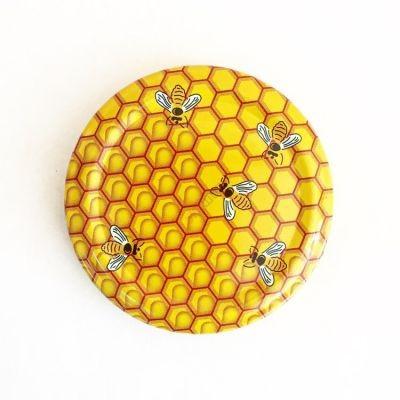 Крышка ТО66 Пчёлка Магол Беларусь. Твист-Офф с резьбой для стеклянных банок