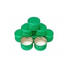 Крышка алюминиевая под винтовую резьбу зелёная 28x18мм