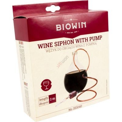 Гибкая трубка для перелива вина с грушей