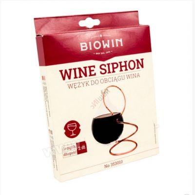 Гибкая трубка для перелива вина с зажимом
