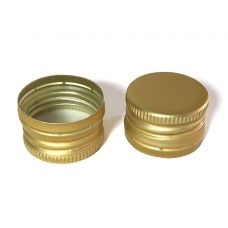 Крышка алюминиевая 31,5 под винтовую резьбу золото