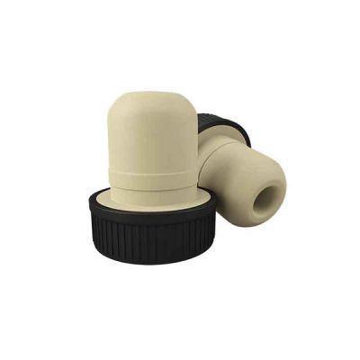 Пробка Т-образная с чёрной шляпкой полимерная цилиндрическая 19мм