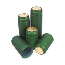 Термоусадочные колпачки Biowin зеленые, 100шт