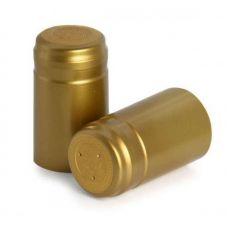 Термоусадочные колпачки Biowin золотые, 100шт